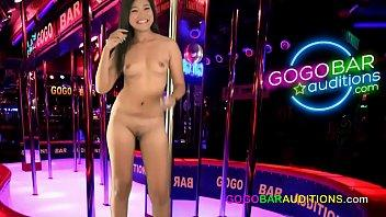 Thai woman auditions for gogo bar dancing job