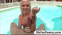 Bikini girl hottie Halle Von gets banged hard b...