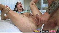 Cute petite teen takes huge cock Tali Dova.84